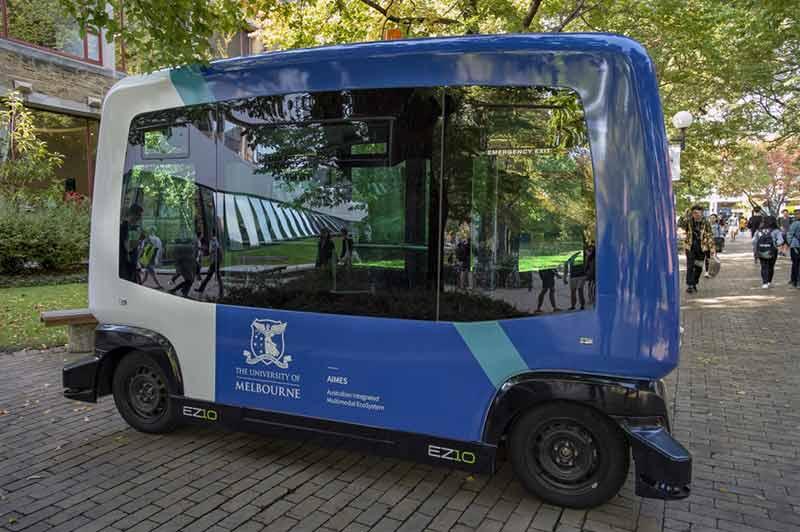 University of Melbourne launching autonomous mini shuttle bus
