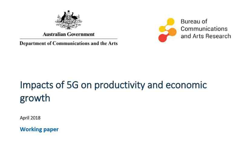 Australia publishes working paper on the impacts of 5G on productivity and economic growth