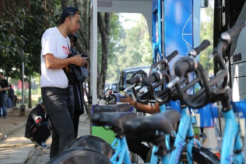 Universitas Gadjah Mada's E-Money makes bike-sharing easy